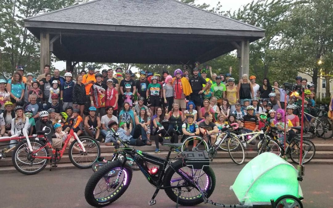 Charlottetown Police Participate in 4th Annual Upstreet Art Bike Rave