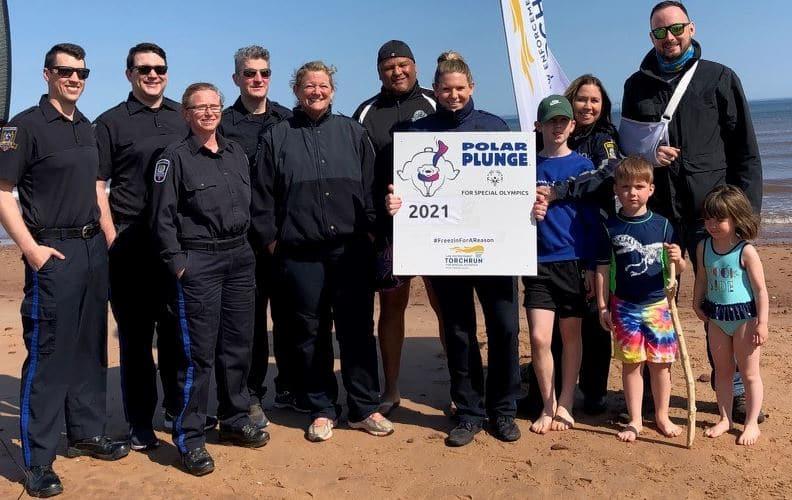 Charlottetown Police Participate in Annual Polar Plunge