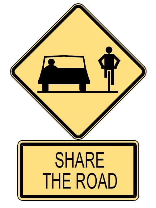 SHARE THE ROADS – Cyclists and Motorists Safety Tips